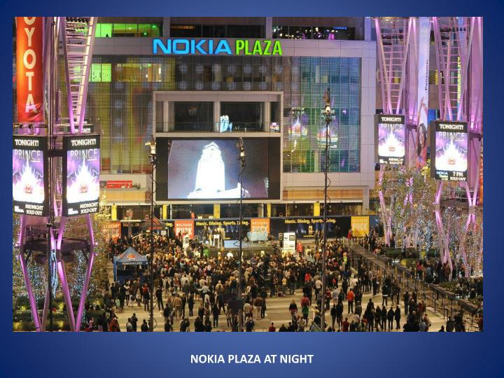 NOKIA PLAZA AT NIGHT