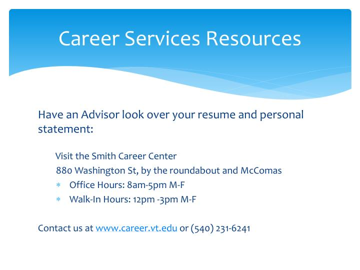 Career Services Resources
