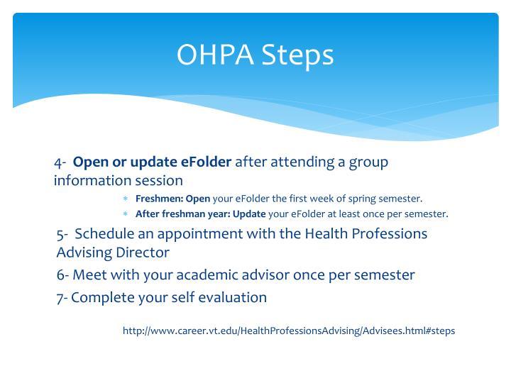 OHPA Steps