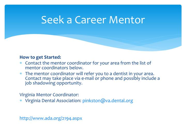 Seek a Career Mentor