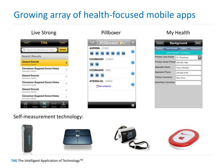 Growing array of health-focused mobile apps
