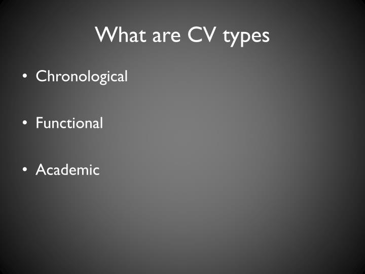 What are cv types