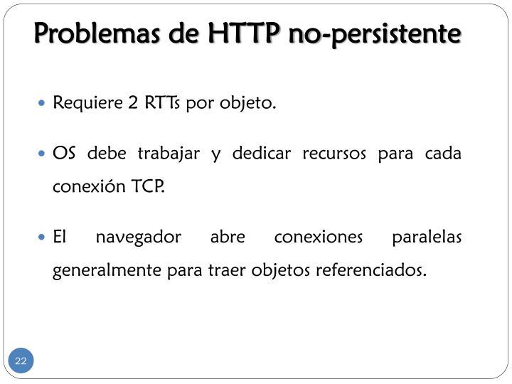 Problemas de HTTP no-persistente