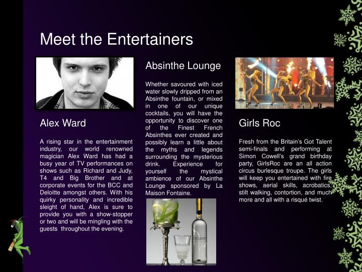Meet the Entertainers