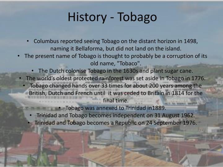 History - Tobago