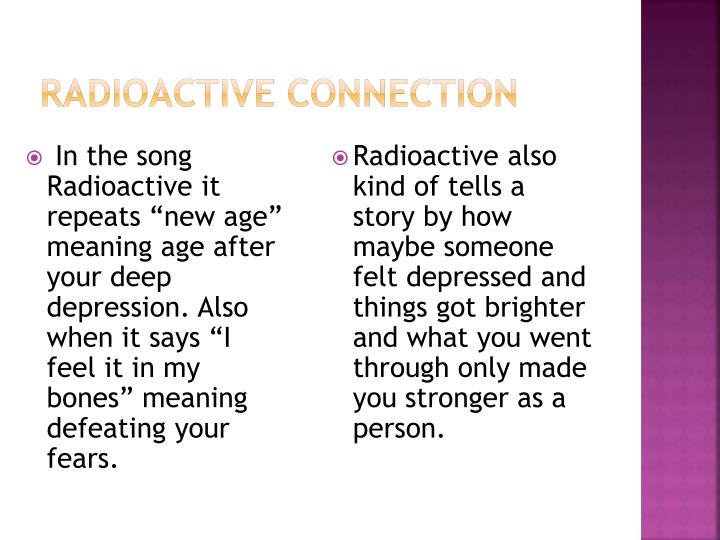 Radioactive connection