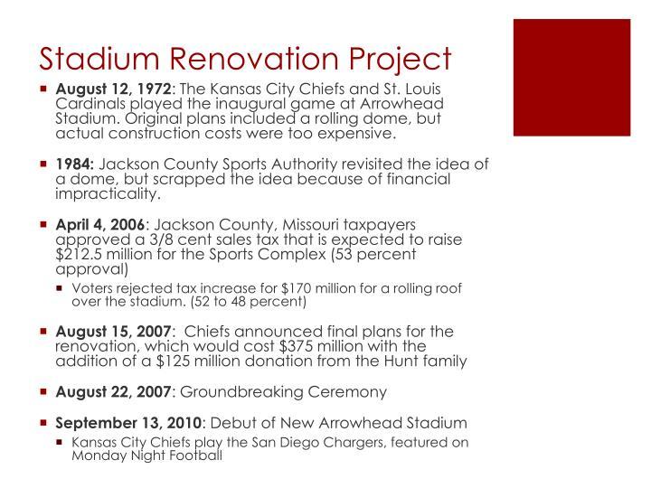 Stadium Renovation Project
