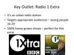 key outlet radio 1 extra