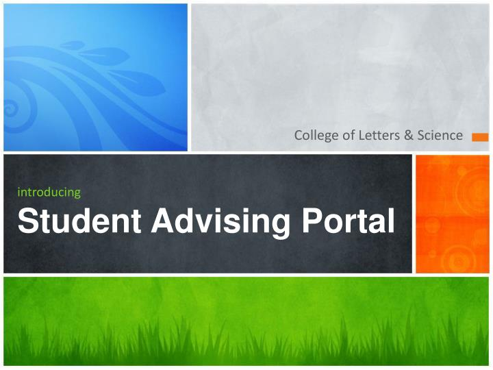 Introducing student advising portal