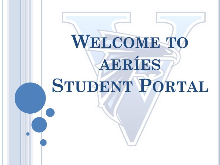 Welcome to aer es student portal