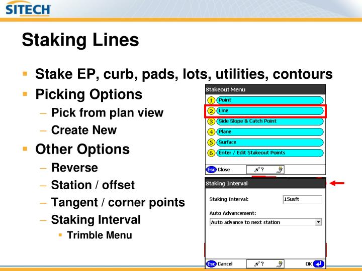 Staking Lines