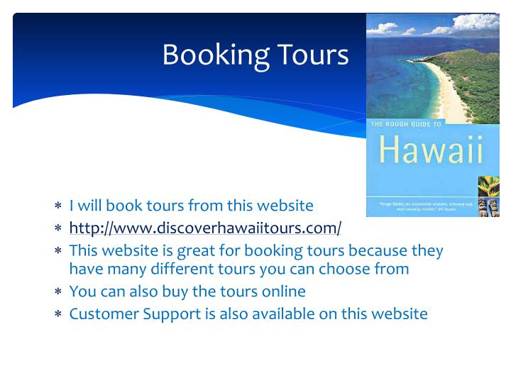 Booking Tours