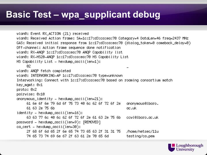 Basic Test –