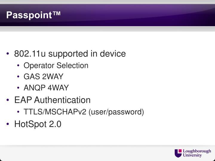 Passpoint