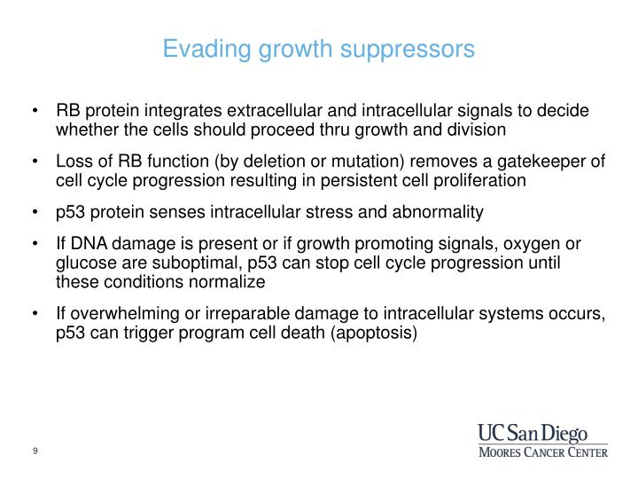 Evading growth suppressors