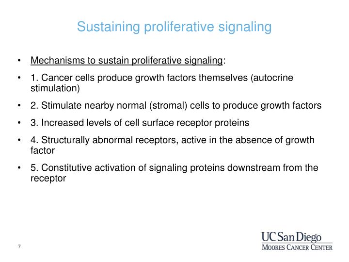 Sustaining proliferative