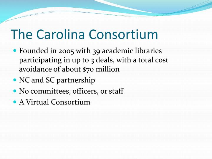 The Carolina Consortium