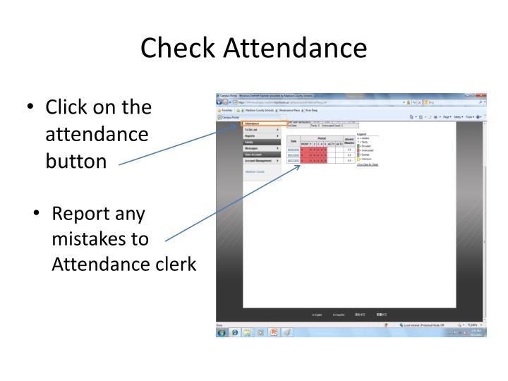 Check Attendance