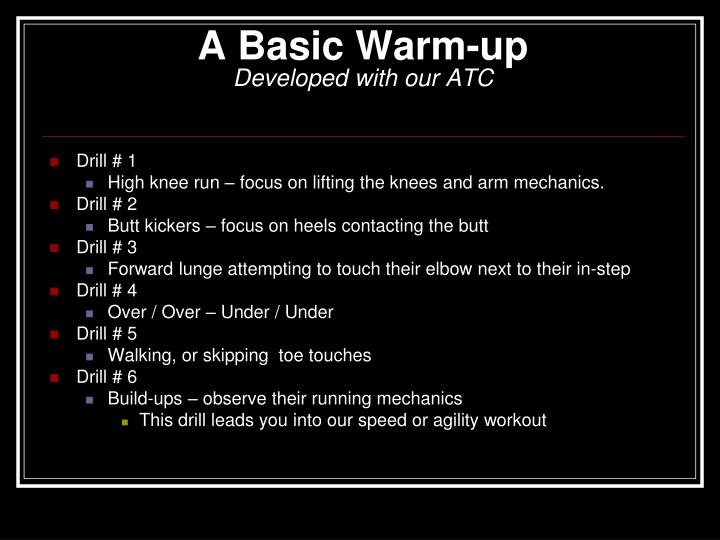 A Basic Warm-up