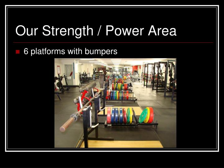 Our Strength / Power Area