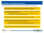 key points on infrastructure cont