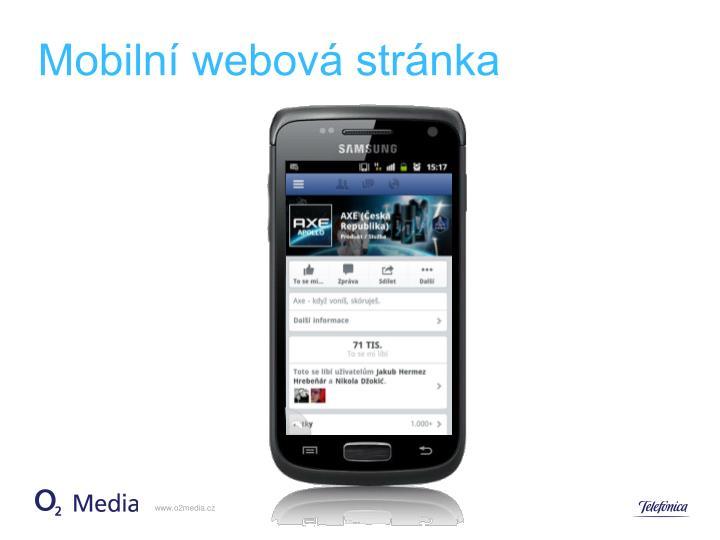 Mobilní webová stránka