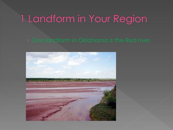 1 Landform in Your Region