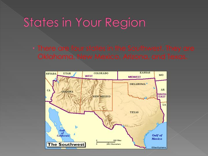 States in your region