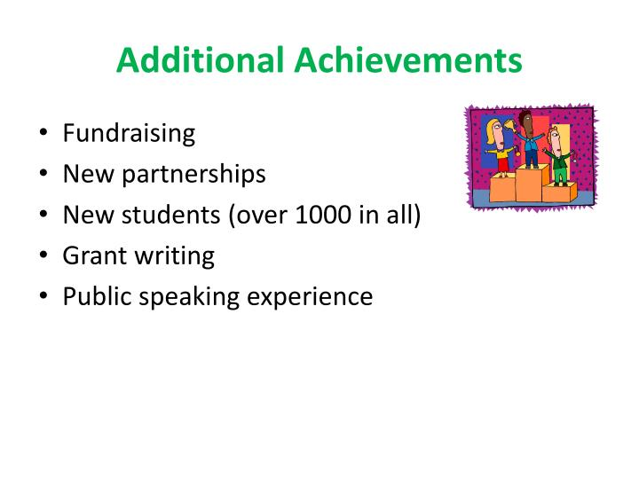 Additional Achievements