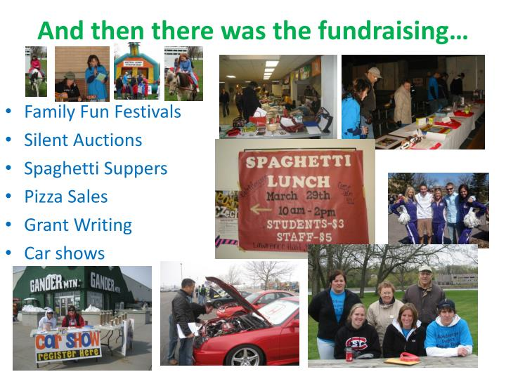 And then there was the fundraising…