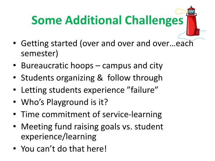 Some Additional Challenges