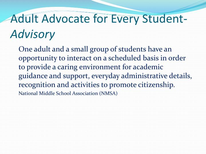 Adult Advocate for Every Student-