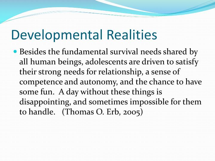 Developmental Realities