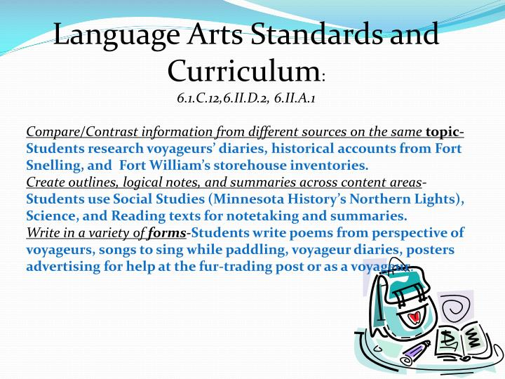 Language Arts Standards and Curriculum