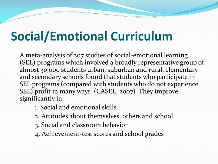 Social/Emotional Curriculum