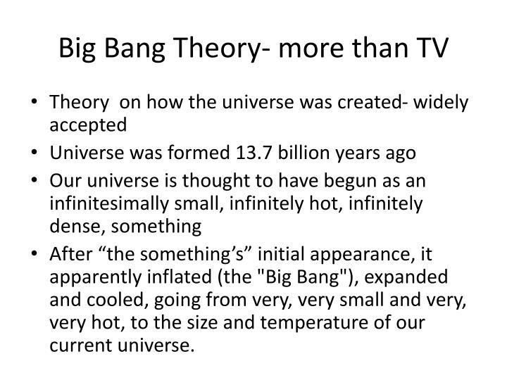 Big Bang Theory- more than TV