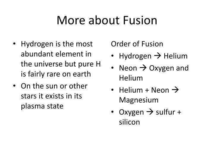 More about Fusion