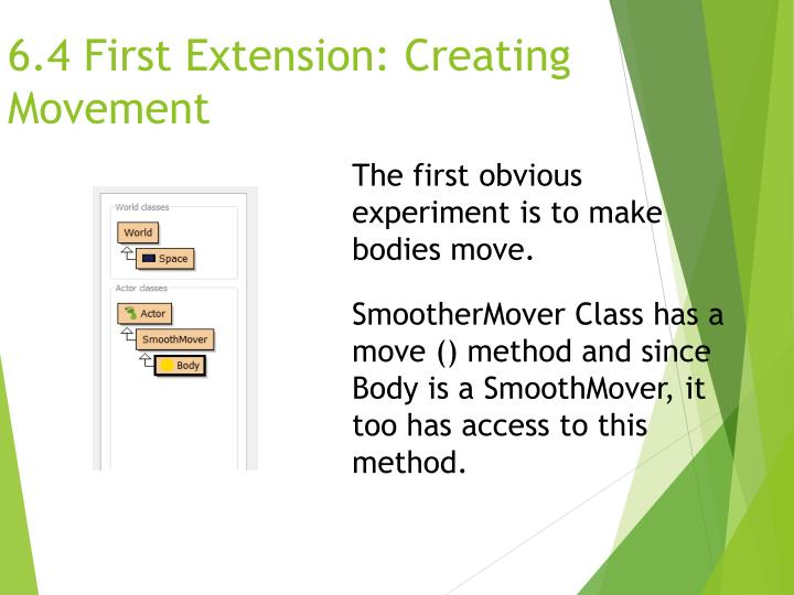 6.4 First Extension: Creating Movement
