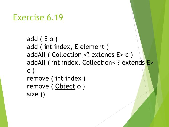 Exercise 6.19