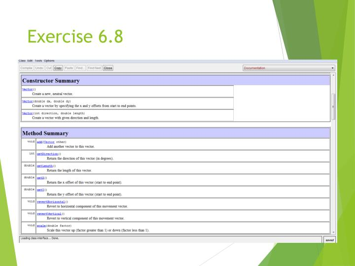 Exercise 6.8