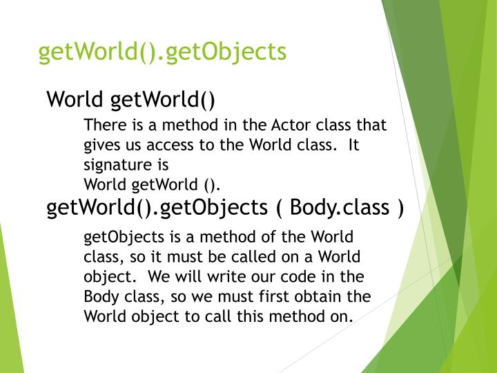 getWorld().getObjects