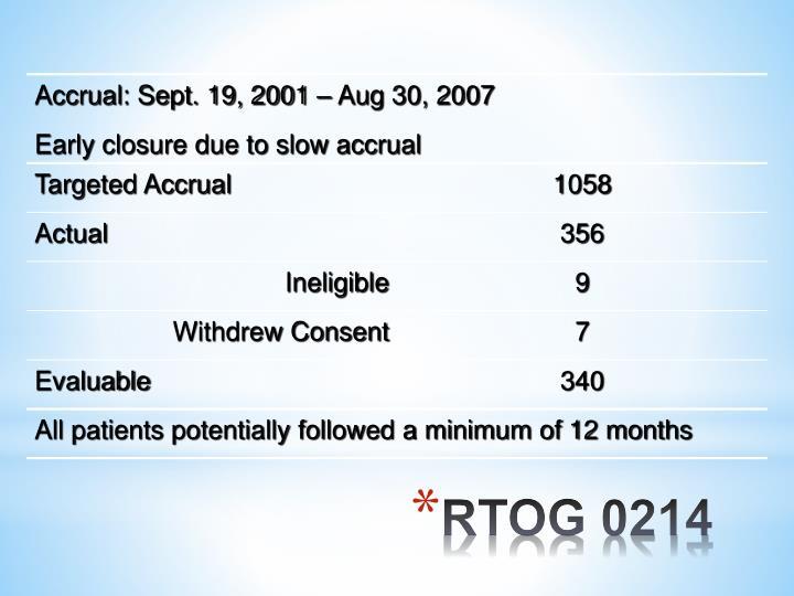 RTOG 0214