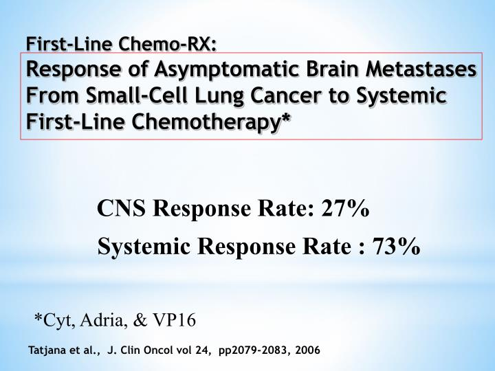 First-Line Chemo-RX: