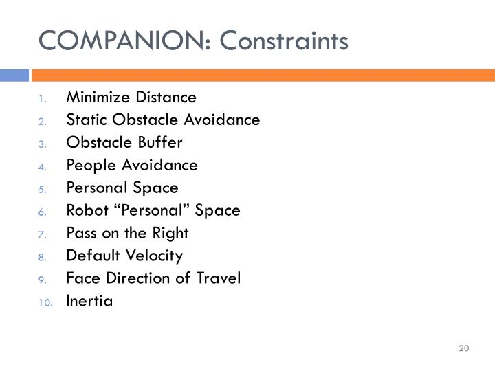COMPANION: Constraints