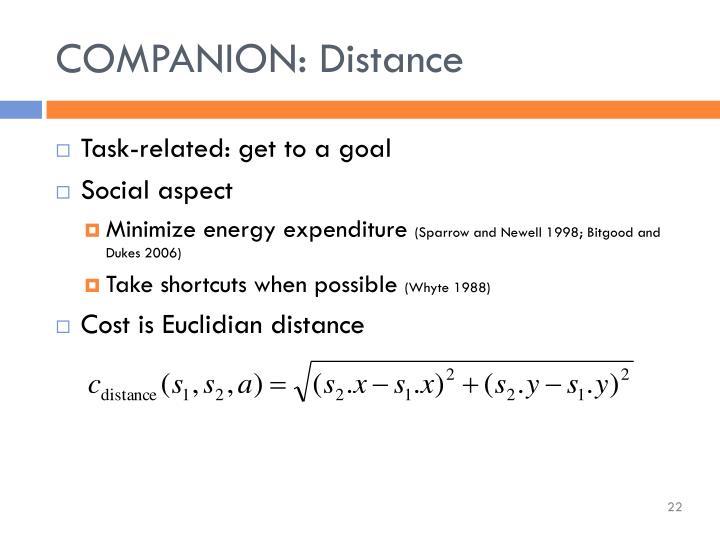 COMPANION: Distance