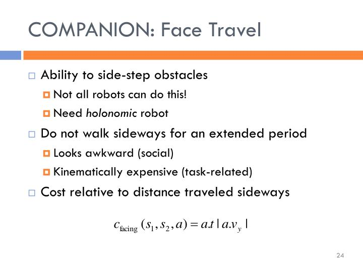 COMPANION: Face Travel