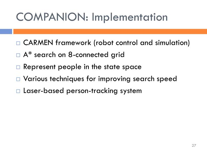 COMPANION: Implementation
