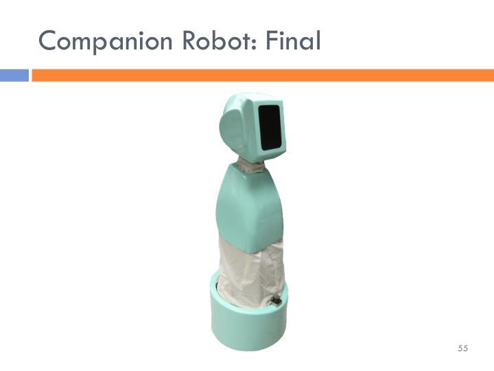 Companion Robot: Final
