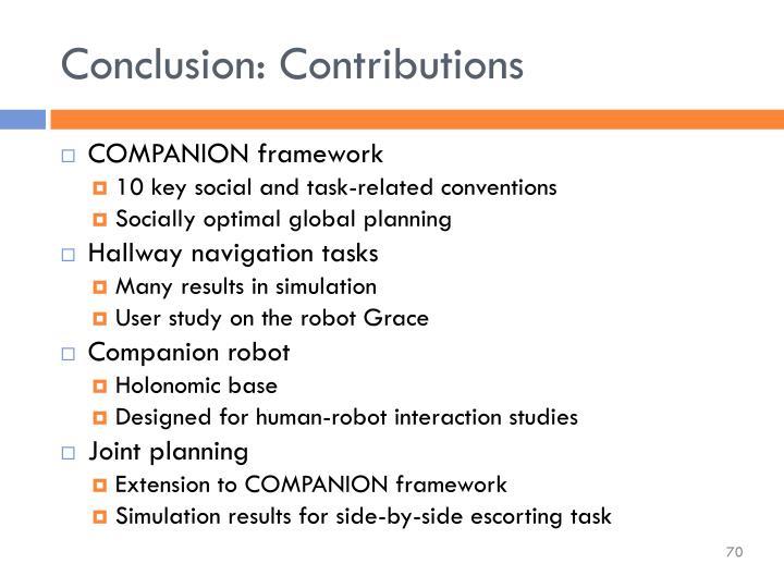 Conclusion: Contributions