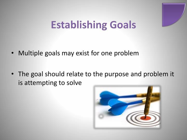 Establishing Goals